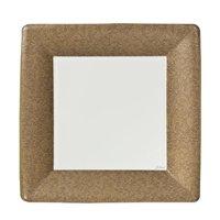 "Lillian Dinnerware Paper Plates, Square, 7"", Gold Texture, 24 Ct"