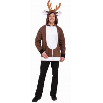 REINDEER HOODIE-STD (70's Leisure Suit Costume)