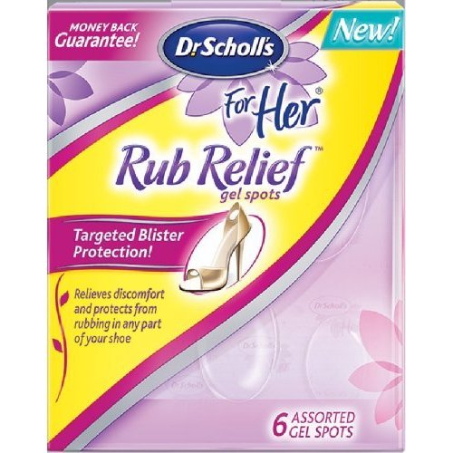 Dr Scholl`s For Her Rub Relief Gel Spots 6 ct