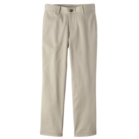 Navy School Uniform Flat - Wonder Nation School Uniform Super Soft Stretch Twill Flat Front Pants (Little Boys & Big Boys)