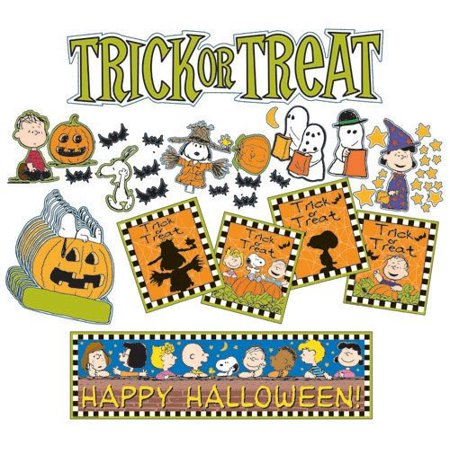 Halloween Mini Bulletin Board Set, Complete decorative solution for adding flair to your classroom By Carson-Dellosa (Classroom Halloween Stations)