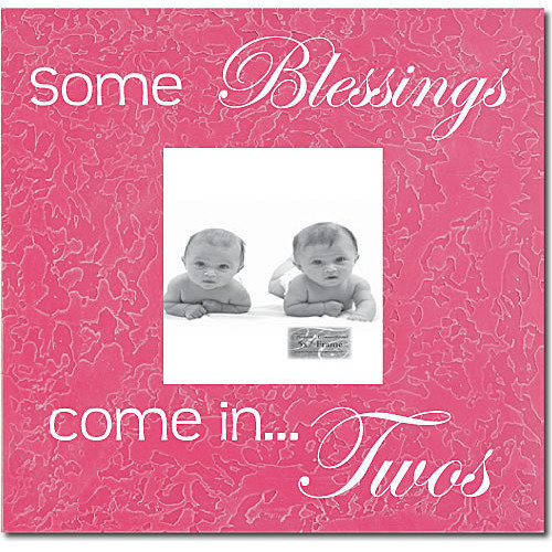 Forest Creations Some Blessings Come In...Twos Picture Frame