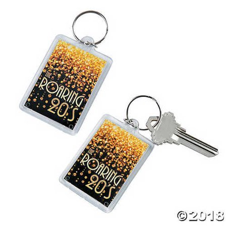 20s Theme Picture Frame Keychains - 20s Themed Wedding