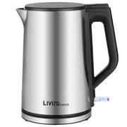 1.5L Stainless Steel Electric Kettle 1500W Hot Water Kettle Tea Boiler, BPA Free