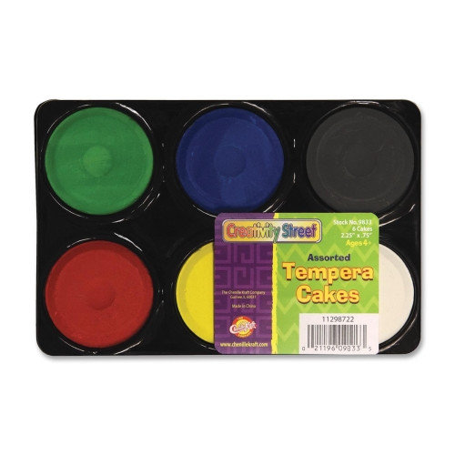 Chenille Kraft Company Tempera Paint Blocks , Non-Toxic, 6 Set, Assorted