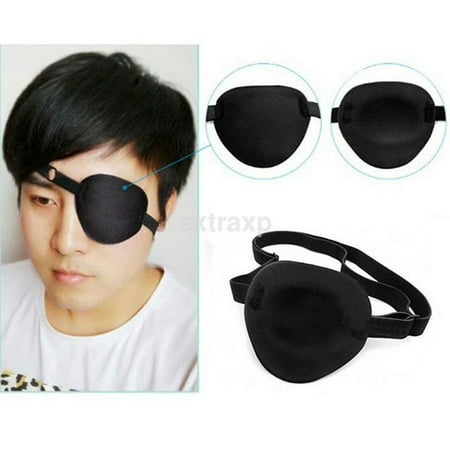 Useful Black Medical Use Concave Eye Patch 3D Foam Groove Eyeshades For Lazy Eye](Eye Patch Leather)