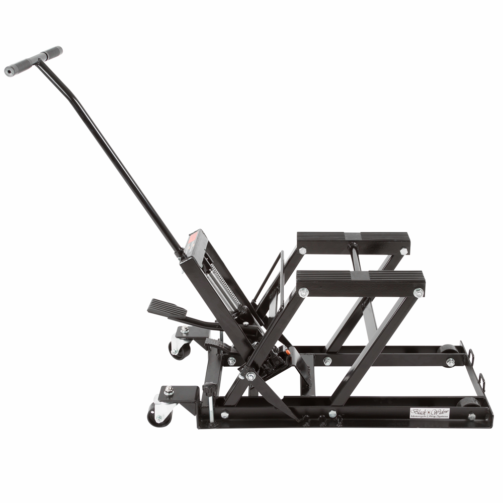 Black Widow Foot-Operated Motorcycle or ATV Lift Jack Stand