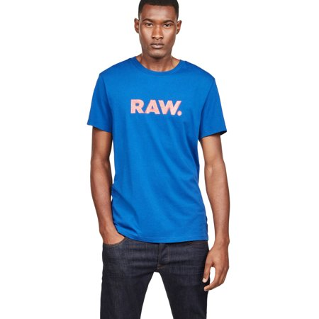 G-Star Raw Men's Graphic 78 Raw Logo Short Sleeve (G Star Raw T Shirts In India)