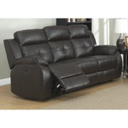 AC Pacific Troy Transitional Dark Power Reclining Sofa