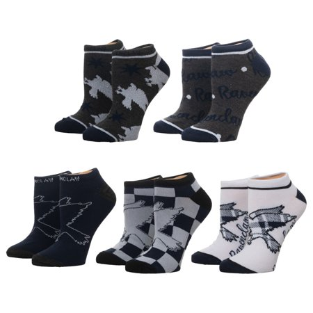 Harry Potter Ravenclaw Juniors' Ankle Socks, 5-Pack, 9-11