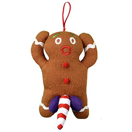 naughty dirty talking gingerbread man christmas tree ornament and gag gift