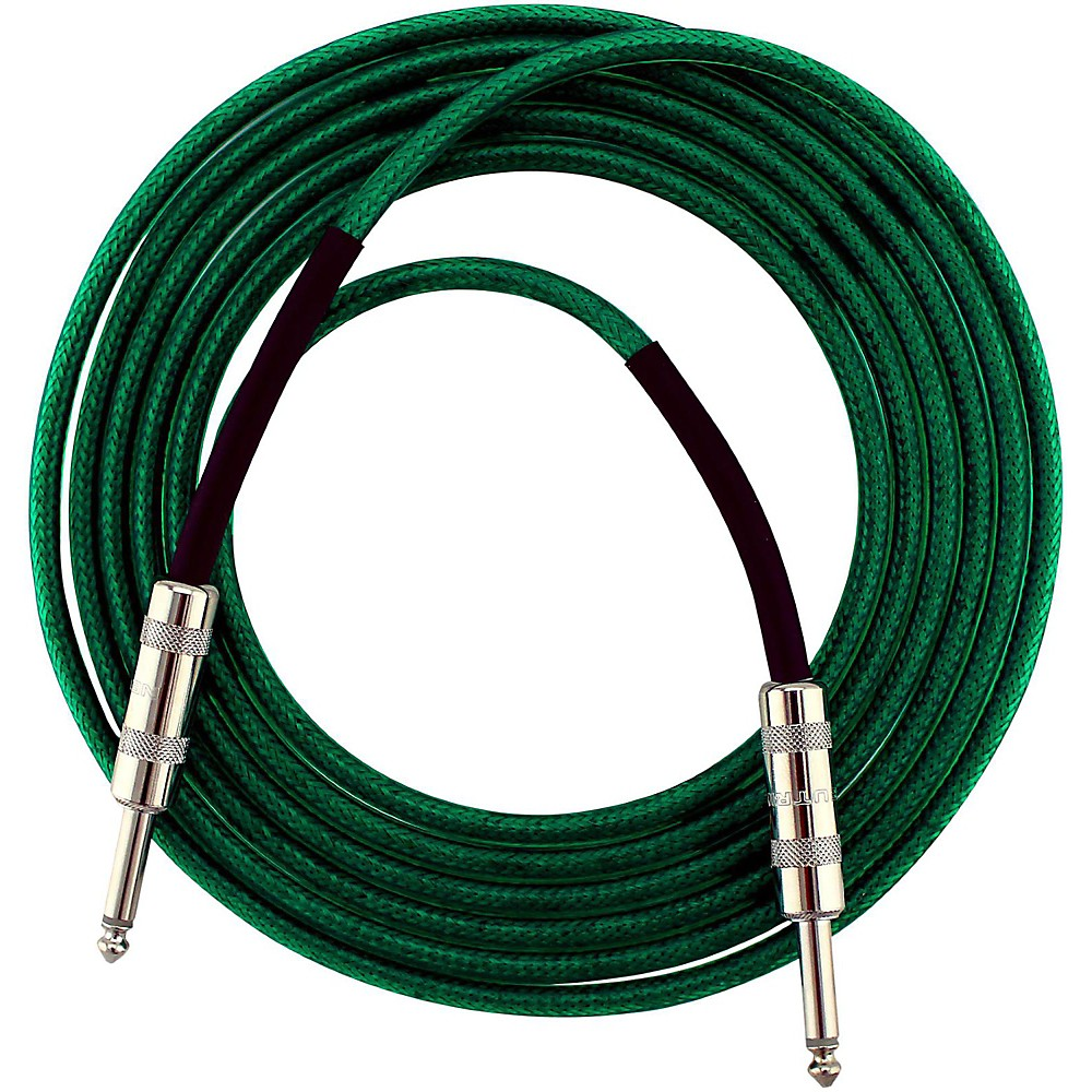 Livewire Soundhose Instrument Cable Green 10 ft.