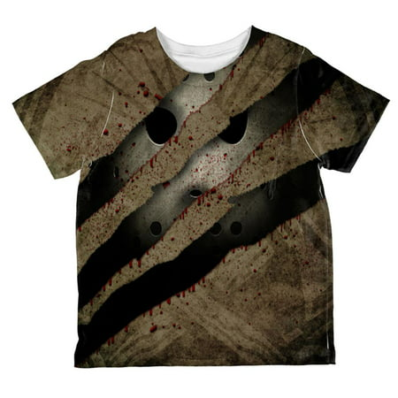 Halloween Horror Movie Mask Slasher Attack All Over Toddler T Shirt](Halloween Art Attack Crafts)