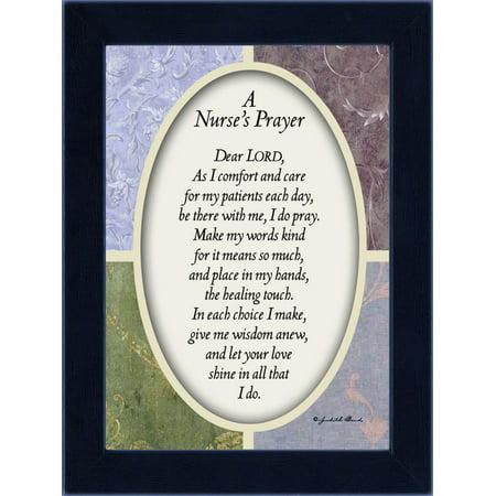 Grad Gifts (Nurses Prayer, Gift Appreciation for Special Nurses, Nurse Graduation, 7x9)