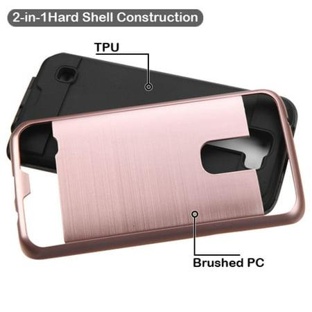 LG K7 Phone Case, LG K7 Case, by Insten Hard Hybrid Rubber Coated 2-Layer Case For LG K7 / Tribute 5 case cover - image 1 de 3