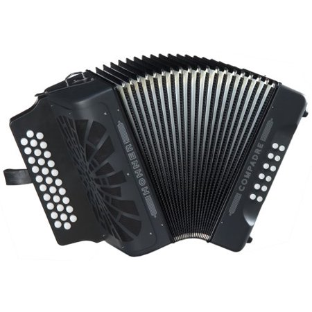 Hohner Button Accordion Compadre EAD, With Gig Bag And Straps, - Vintage Accordion
