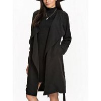 dd453a597d Product Image Womens Long Warm Hem Belt Full Winter Open Front Coat