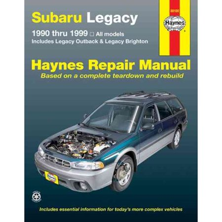 Subaru Legacy Automotive Repair Manual  All Legacy Models 1990 Through 1999 Includes Legacy Outback And Legacy Rrighton
