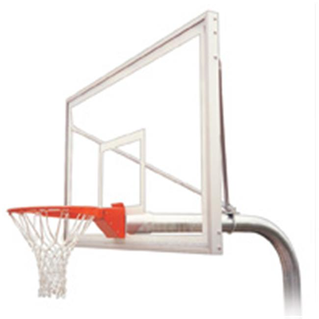 RuffNeck Supreme Steel-Acrylic In Ground Fixed Height Basketball System, Navy Blue