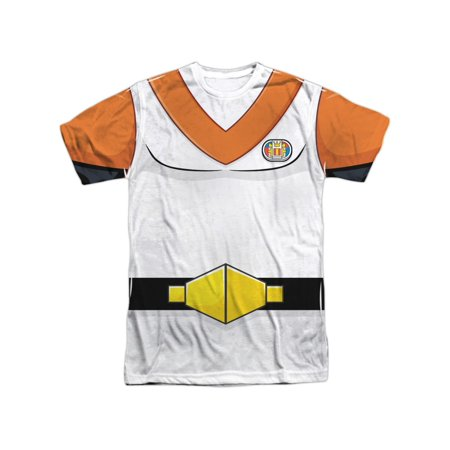 Voltron Animated TV Show Orange Hunk Team Uniform Adult Front Print - Cheerleading Uniforms For Adults