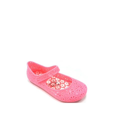 Wonder Nation Toddler Girls' Casual Jelly Mary Jane - Pink Toms Toddler