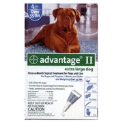 Advantage II Flea and Tick Monthly Treatment For Extra-Large Dogs, 4 Treatments