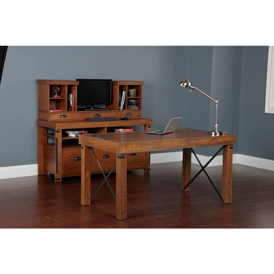 Complete Home Office from American Furniture Classics. Includes Industrial Collection Desk, Credenza Console, and Hutch. by Overstock