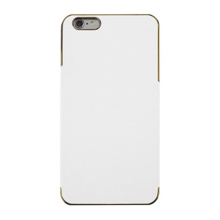 87e07f79face Cross Pattern PU Leather Chrome Hard Plastic Case Cover For iPhone 6 Plus -  Walmart.com