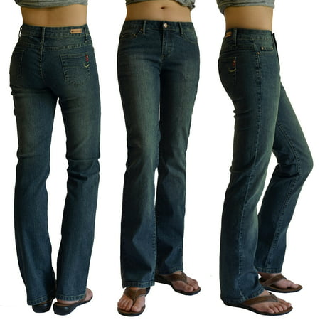 Ladies Stretch Denim (WOMENS DENIM STRETCH JEANS 5834-ant SIZE:3 )