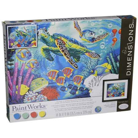 Paintworks Paint By Numbers Sea Turtles Paintworkspaint By Number