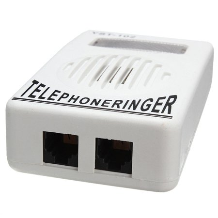 Telephone Ringer up to 95dB With Strobe Light Flasher Extra-Loud Bell Ringer - image 3 de 7