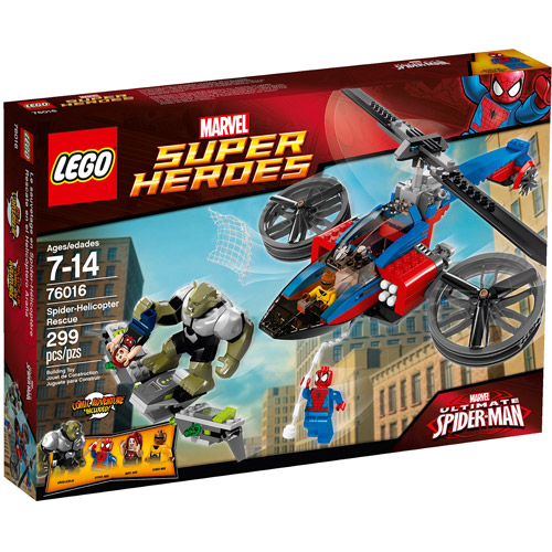 LEGO Super Heroes Spider-Helicopter Rescue Play Set - Walmart.com