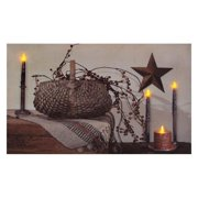 """Timeless by Design 72089 - 12"""" x 20"""" x .75"""" """"Berry Basket"""" Battery Operated LED Lighted Canvas (Batteries Not Included)"""
