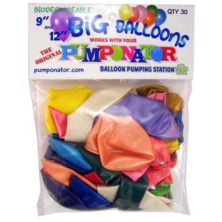9 And 12 Big Balloons Contains 30 Assorted Color Big Balloons By