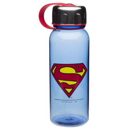 Novelty Character Drinkware Zak Designs DC Comics Superman Blue Wide Mouth 24oz Water Bottle with Loop