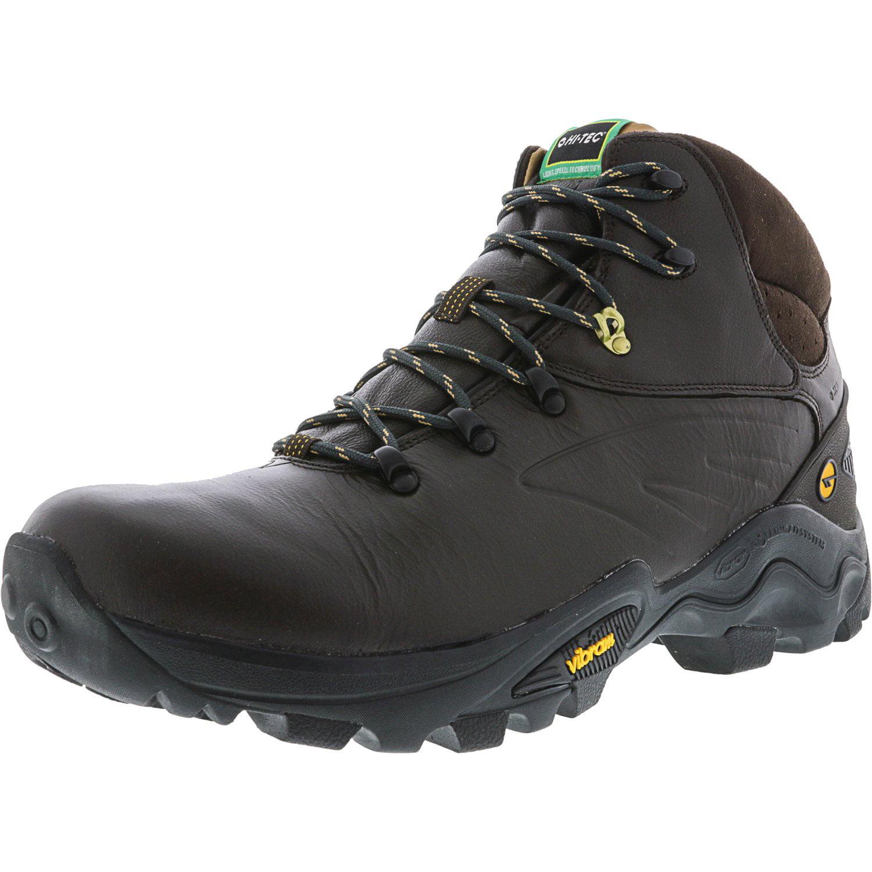 Hi-Tec Men's V-Lite Flash Hike Waterproof Chocolate   Core Gold High-Top Leather Hiking Boot 9.5M by Hi-Tec