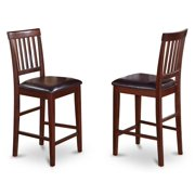 Kitchen Counter Stool in Mahogany Finish - Set of 2