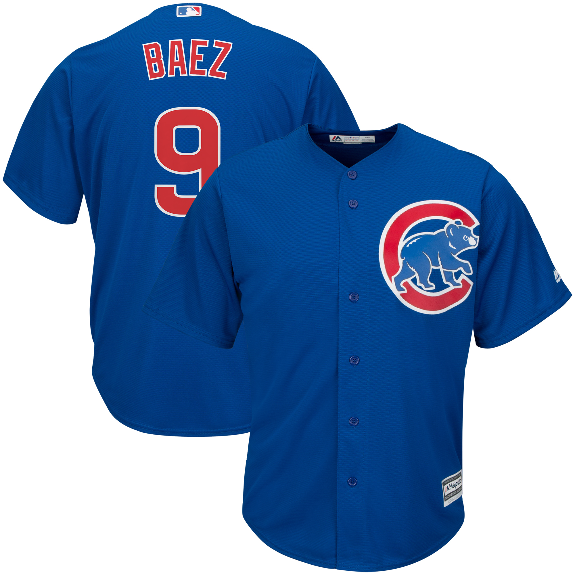 Javier Baez Chicago Cubs Majestic Alternate Official Cool Base Player Jersey - Royal
