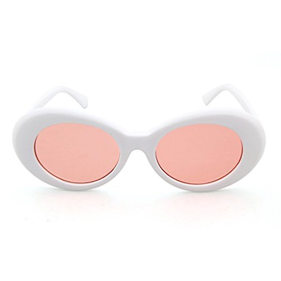 4bb53eb492201 MJEWELRYGIFT - Clout Goggles Oval Sunglasses Mod Style Retro Thick Frame  Kurt Cobain Inspired Sunglasses With Round Lens Vintage - Walmart.com
