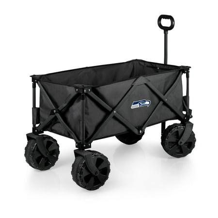 Seattle Seahawks Adventure Wagon Elite All-Terrain Folding Utility Wagon - Charcoal - No