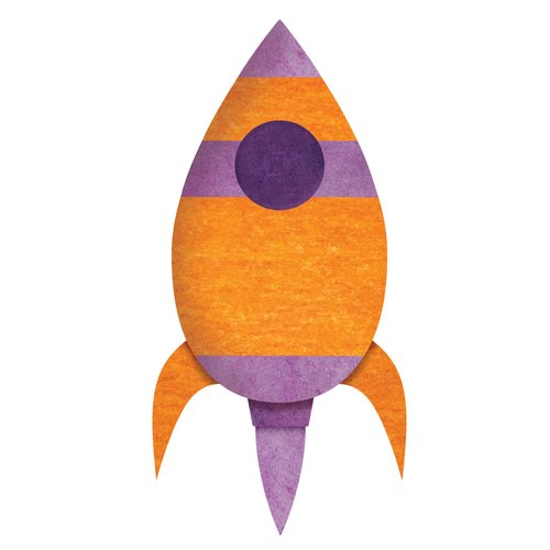 My Wonderful Walls Rocket Ship Wall Decal