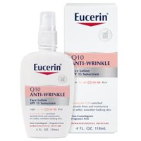 Eucerin Q10 Anti-Wrinkle Face Lotion SPF 15, For Sensitive Skin, 4 Fl. Oz. Bottle