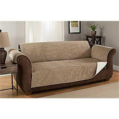 Gpd Sofa Heavy Weight Luxury Textured Microsuede Pebbles