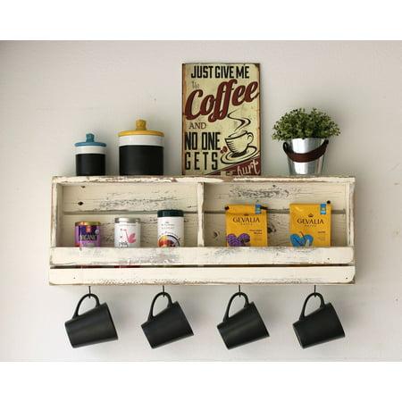Rustic Slatted Wall Shelf