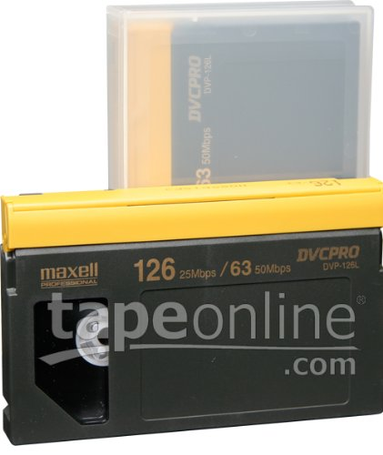 Maxell DVP-126L DVCPro Video Tape 126 Minute, Large by Maxell