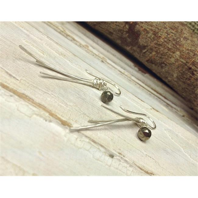 Laura J Designs e5654 Hammered Stick Sterling Silver Earrings, 1. 5 inch