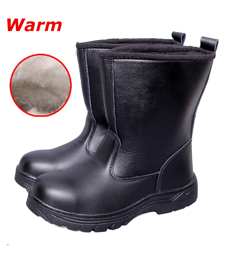 Mens Winter Steel Toe Safety Shoes Anti