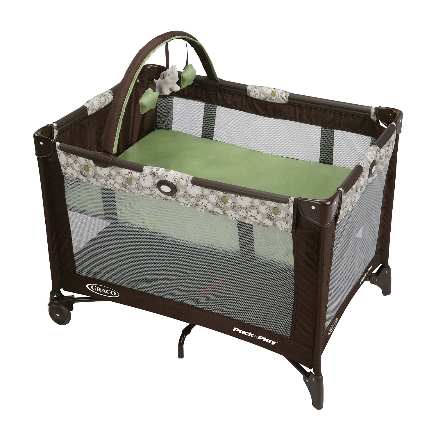 Graco Pack 'n Play On the Go Play Pen with Bassinet, Stratus by Graco