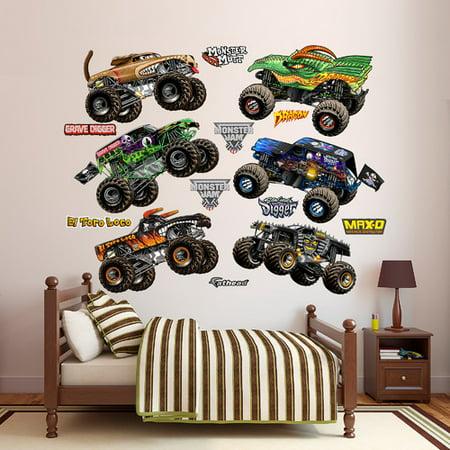 (Fathead Feld Cartoon Monster Jam Trucks Peel and Stick Wall Decal)
