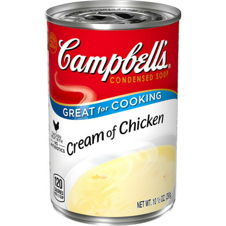(4 Pack) Campbell's Condensed Cream of Chicken Soup, 10.5 oz.